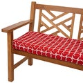Linked Red 48-inch Indoor/ Outdoor Corded Bench Cushion
