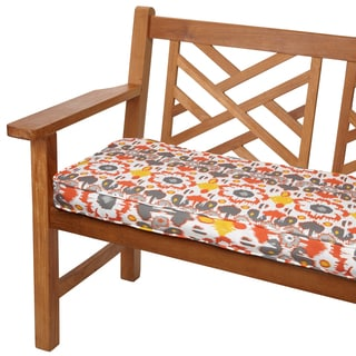 Floral Citrus 48-inch Indoor/ Outdoor Corded Bench Cushion