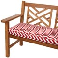 Red Chevron 48-inch Indoor/ Outdoor Corded Bench Cushion