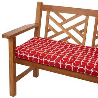 Linked Red 60-inch Indoor/ Outdoor Corded Bench Cushion