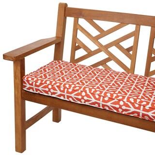 Dossett Orange 60-inch Indoor/ Outdoor Corded Bench Cushion