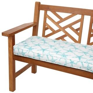 Aqua Starfish 60-inch Indoor/ Outdoor Corded Bench Cushion