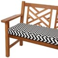 Black Chevron 60-inch Indoor/ Outdoor Corded Bench Cushion