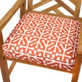 Dossett Orange 19-inch Indoor/ Outdoor Corded Chair Cushion