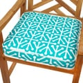 Dossett Teal 19-inch Indoor/ Outdoor Corded Chair Cushion