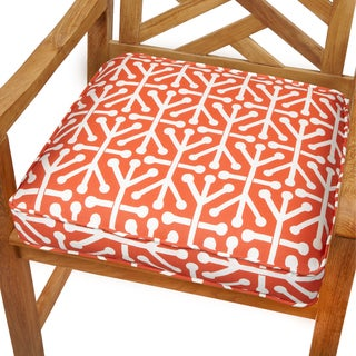 Dossett Orange 20-inch Indoor/ Outdoor Corded Chair Cushion