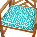 Dossett Teal 20-inch Indoor/ Outdoor Corded Chair Cushion
