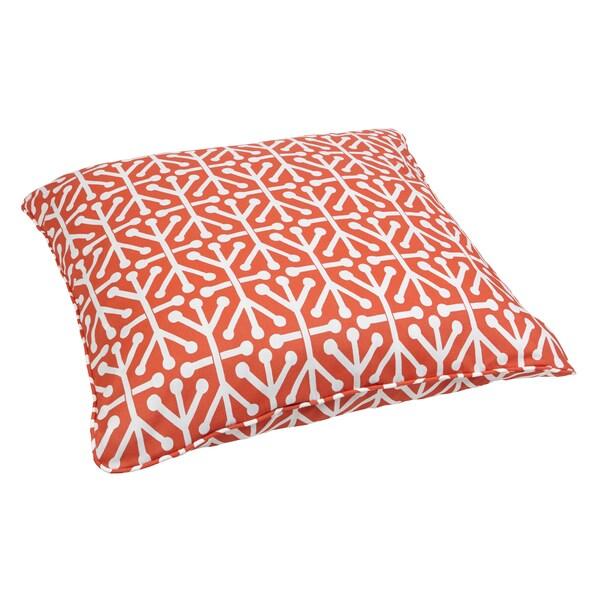 Dossett Orange Corded Outdoor/ Indoor Large 28-inch Floor Pillow