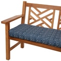 Navy Herringbone 48-inch Indoor/ Outdoor Corded Bench Cushion