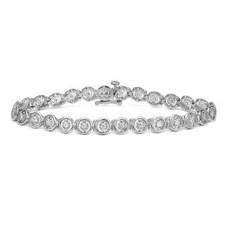 Auriya 14k White Gold 1/2ct TDW Round Diamond Bracelet (H-I, I2-I3)