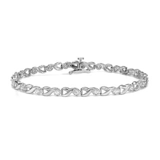 Auriya 14k White Gold 1/2ct TDW Diamond Bracelet (H-I, I2-I3)