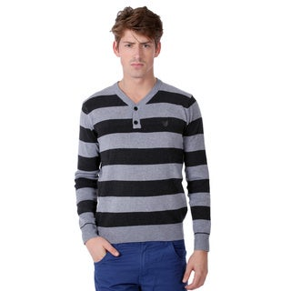 191 Unlimited Mens Striped Sweater