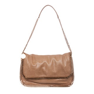 Stella McCartney Peach Falabella Flap Messenger