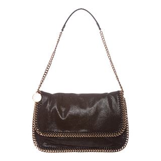 Stella McCartney Black Falabella Flap Messenger