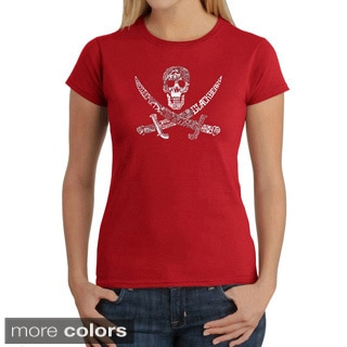 Los Angeles Pop Art Women's Pirate Pictures T-Shirt