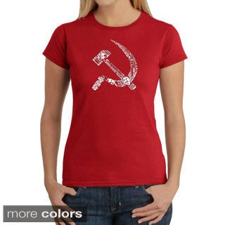 Los Angeles Pop Art Women's 'USSR' T-shirt