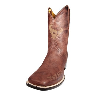 Houston Texans Square Toe Classic Leather Boots
