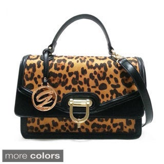 Ceraffi Animal Print Satchel Bag
