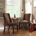 Inspire Q Regency Chocolate Chenille Nailhead Wingback Hostess Chairs (Set of 2)