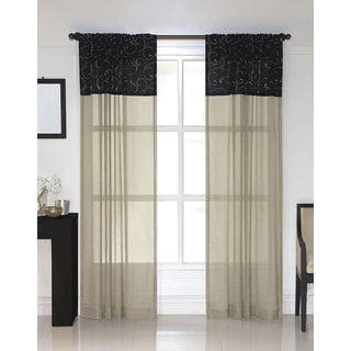 black sheer curtains overstock shopping the best prices online