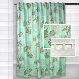 Coral Tide Polyester Shower Curtain Set