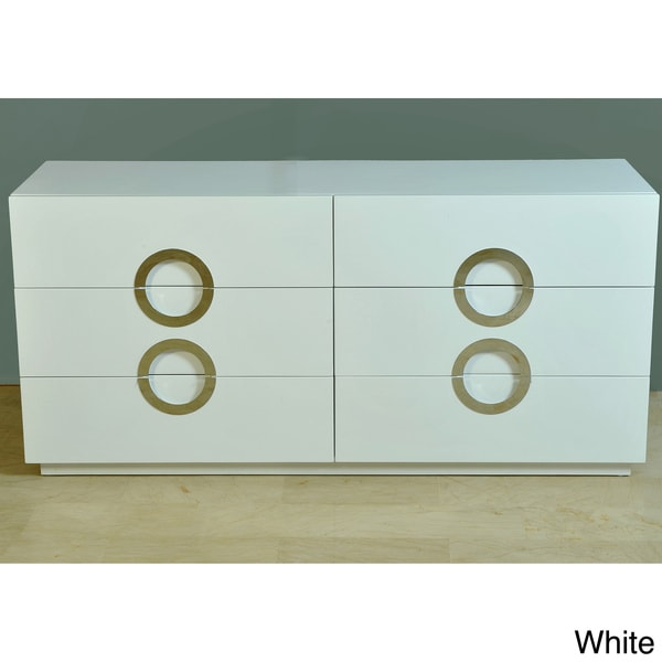 Moden High-gloss Double Dresser