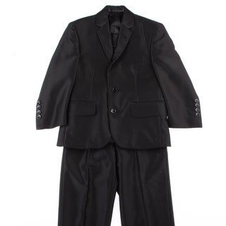 Ferrecci Kids Shiny Black Three Piece Two-Button Tuxedo
