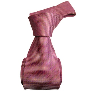 Sophisticated Dmitry Men's Pink Patterned Italian Silk Tie