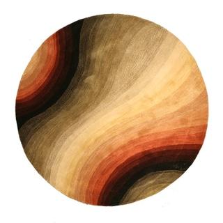 Hand-tufted Desertland Multi Wool Rug (7'9 Round)
