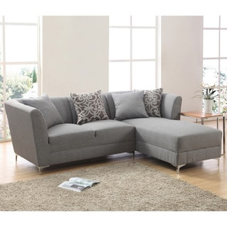 Ricordi Modern Stainless Steel/ Fabric Sectional