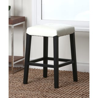 Abbyson Living Mercer Ivory Leather Counter Stool