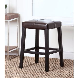 Abbyson Living Mercer Dark Brown Leather Counter Stool