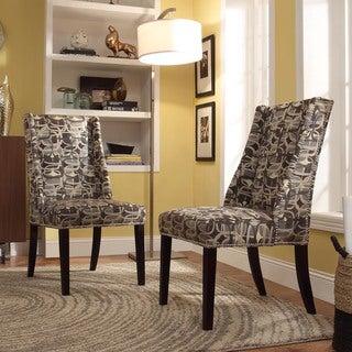 INSPIRE Q Geneva Mod Geometric Wingback Hostess Chairs (Set of 2)