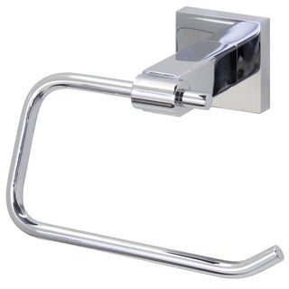 VIGO Allure Chrome Square Design Single Post Toilet Tissue Holder