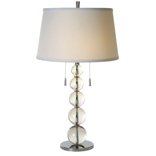 Palla Crystal 2-light Chrome Table Lamp