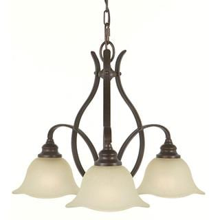 Morningside 3-light Grecian Bronze Chandelier