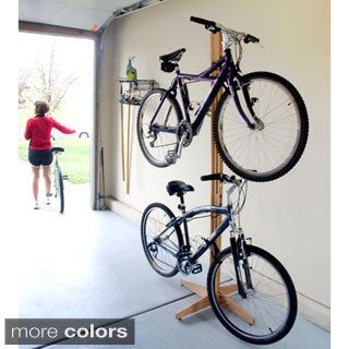 Bikes Up And Away Floor To Ceiling Gear Up Oak Rak Floor To