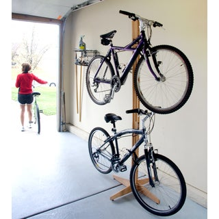 Gear Up Oak Rak Floor To Ceiling Bike Freestand