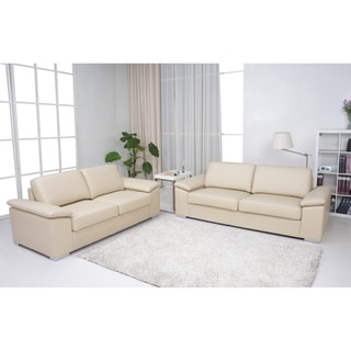 Hampton Gold Sparrow Beige 2-piece Sofa and Loveseat Set