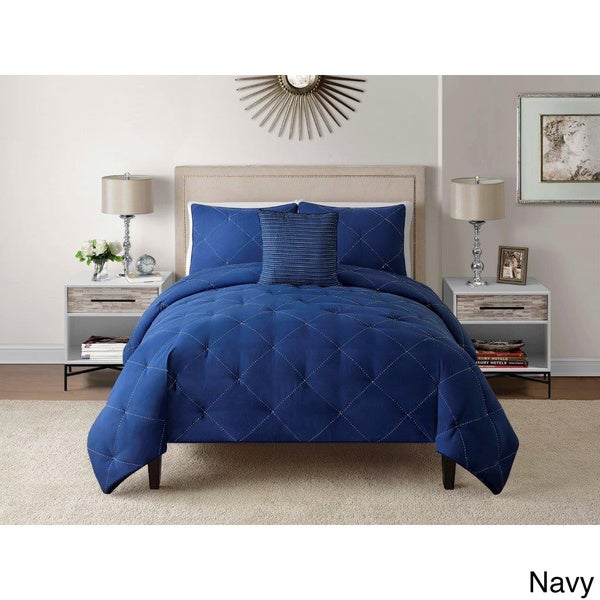 Charlotte Embroidered 4-piece Comforter Set