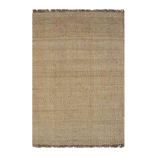 Handwoven Natural Basket Weave Jute Rug (5' x 8')