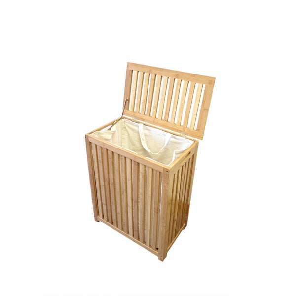 Horizon bamboo laundry hamper 15851987 shopping great deals on hampers - Bamboo clothes hamper ...