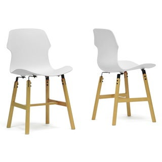 Voxx White Modern Dining Chairs (Set of 2)
