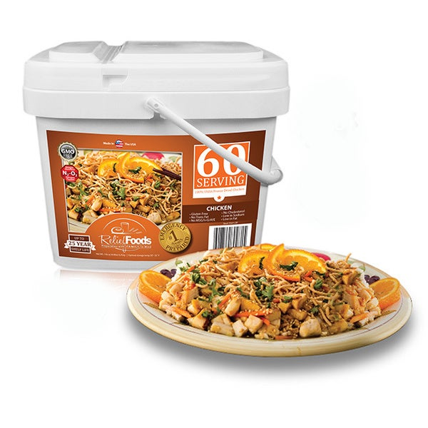 Relief Foods Freeze Dried Chicken Bucket (60 Servings)