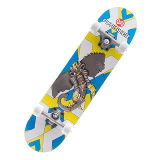 Punisher Skateboards 31-inch Warphant Complete Skateboard Concave Deck