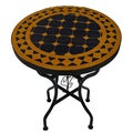 Iron Mosaic Blue/Yellow Side Table (Morocco)