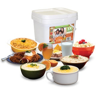 Relief Foods Gluten-free Entree & Breakfast Bucket (100 Servings)