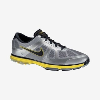 Nike Men's Lunar Ascend Grey/ Yellow Golf Shoes