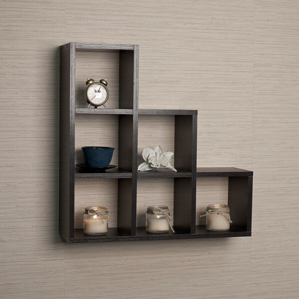 decorative wall shelf living room floating shelves wood box hanging