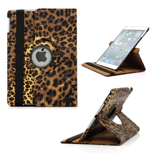 Gearonic Rotating PU Leather Leopard Case Cover for Apple iPad 5 Air